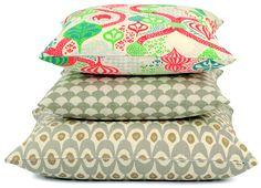 Littlephant pillows in joyous colors.