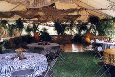 Safari Theme table cloths