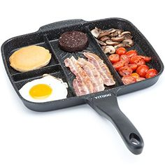 Non stick 5 in 1 master pan grill die cast aluminum fry pan Cast Iron Cookware, Cookware Set, Calphalon Cookware, Induction Cookware, Breakfast Skillet, Grill Master, International Trade, Grill Pan, Grilling