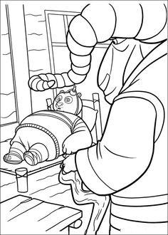 Kung Fu Panda Tegninger til Farvelægning. Printbare Farvelægning for børn. Tegninger til udskriv og farve nº 26