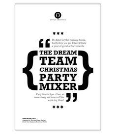 Free Retro Typographic Party Flyer