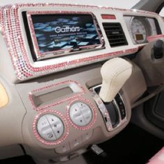 Bling car interior!! Nice