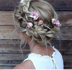 Best Wedding Hairstyles With Braids Boho Updo Ideas Braided Hairstyles For Wedding, Flower Girl Hairstyles, Boho Hairstyles, Hairstyle Ideas, Braided Updo, Makeup Hairstyle, Beautiful Hairstyles, Hair Updo, Summer Hairstyles