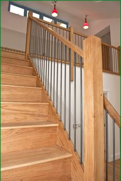 No.88 eco House with metal spindles Case Studies - Pear Stairs. Price £2,000 + vat, but might be with no spindles