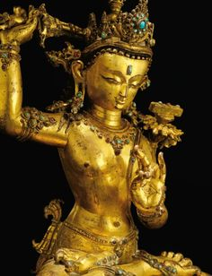 A SUPERBLY CAST GILT-COPPER ST Buddha Sculpture, Master Of Fine Arts, Buddha Painting, Tibetan Art, Buddhist Art, 14th Century, Deities, Asian Art, It Cast