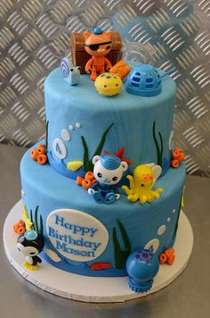 Completely adorable Octonauts cake!