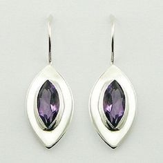 DESIGNER EARRINGS with Purple CZ Marquise Cut DESIGN NOW $39.95aus .....................With FREE SHIPPING AUSTRALIA WIDE.. SAVE THIS PIN OR BUY NOW FROM LINK HERE http://www.ebay.com.au/itm/-/172551959123?ssPageName=ADME:L:LCA:AU:1123