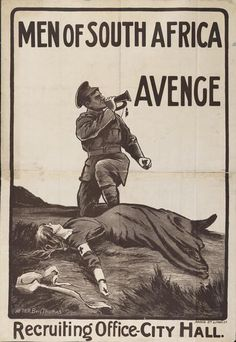 """Men of South Africa - Avenge"", Allied anti-German propaganda evoking the execution of Red Cross nurse Edith Cavell by German firing squad, 1915 Edith Cavell was a British Red Cross nurse in WWI. World War One, First World, Edith Cavell, Union Of South Africa, Ww2 Posters, Male Nurse, Military Love, Vintage Posters, Photos"