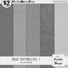 Basic Textures Vol 1 {commercial use} by Fanette Design