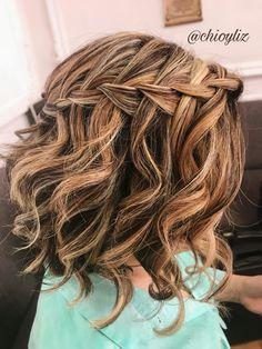 Trenza en pelo corto Trenza con ondas