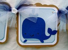 whale baby shower banner. I will pin everything nautical/whale related...cause it makes me think of you, Ali!