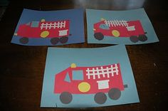 Great idea for community workers.Firetruck craft and fireman painting Community Helpers Kindergarten, Kindergarten Social Studies, School Community, Community Art, Fireman Crafts, Firefighter Crafts, Fire Safety Crafts, Fire Truck Craft, Truck Crafts