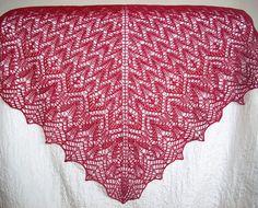 "Ravelry: Firebird Shawl (Шаль ""Жар-птица"") pattern by Lilia Komosa"