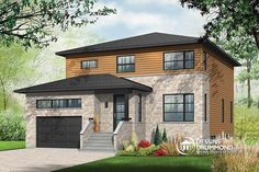 Plan 80784PM: Compact Two-Story Contemporary House Plan ...