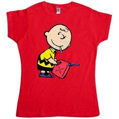 Banksy Women's T Shirt - Naughty Charlie - Red / 10-12