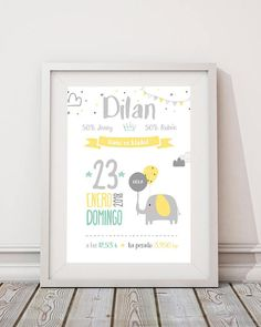 Personalized picture with baby data birth image 2 Birth Horoscope, Baby Icon, Kids Watercolor, Baby Posters, Baby Frame, Baby Tattoos, Kids Poster, Boy First Birthday, Baby Prints
