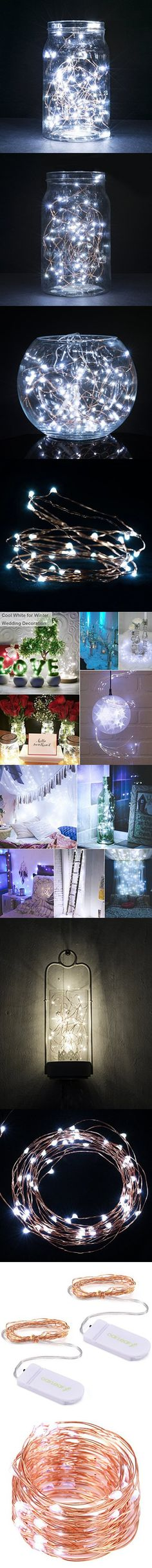 Battery operated white led rope light battery operated led rope string lightsoak leaf 2 set of micro 30 leds super bright cool white led mozeypictures Images