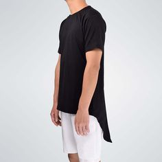 Moomphya Streetwear Men extended back tails swag funny t shirts with back zip Hip hop longline. Click visit to buy #T-Shirts