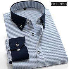 Striped Shirt Men Long Sleeve Dress Shirt Brand Men Shirt Slim Fit Camisa Masculina High Quality Men Clothes Imported Clothing
