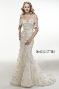 CC's Bridal Boutique offers a huge selection of Maggie Sottero wedding dresses in St Petersburg. Call to schedule an appointment to see our Maggie Sottero wedding gowns. Beautiful Wedding Gowns, Dream Wedding Dresses, Bridal Dresses, Beautiful Dresses, Maggie Sottero Wedding Dresses, Dress Vestidos, Dresses Short, Gowns With Sleeves, Cap Sleeves