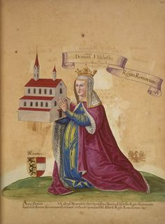 Elizabeth of Carinthia, Queen of Germany (c. 1262 – - wife of King Albert I. King Of Jerusalem, Margrave, Royal Monarchy, High Middle Ages, Carinthia, Holy Roman Empire, All In The Family, Woman Painting, Elizabeth Ii