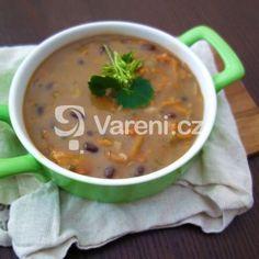 Poctivá fazolová polévka Cheeseburger Chowder, Soup, Ethnic Recipes, Soups