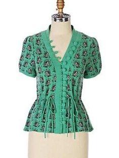 RARE Anthropologie Leifsdottir Intarsia Rose Cardigan Sweater Jacket Sz Small…