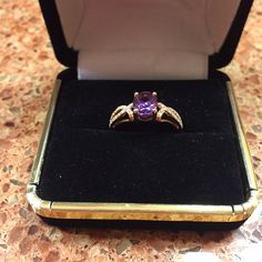 Spotted while shopping on Poshmark: Women's 14K pink gold amethyst and diamond ring! #poshmark #fashion #shopping #style #Jewelry