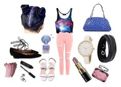 """""""Galaxy"""" by zaza4lyf ❤ liked on Polyvore featuring Topshop, Gianvito Rossi, Chanel, Swarovski, Bobbi Brown Cosmetics, Gucci and EmbraceYourGeekness"""