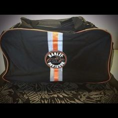 Harley Davidson Duffel. Check it out! Price: $25 Size: OS