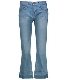 13 Kick-Flare Jeans to Try  - Pair these with a t-shirt and blazer for a casual cool look. from InStyle.com