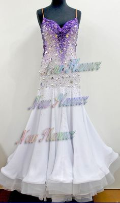U5349 water front Women Ballroom wedding tango waltz standard dance dress US 10 #seahunter
