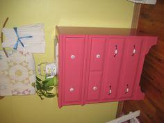Our watermelon pink dresser