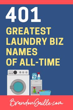 401 Best Catchy Laundry Business Names | Laundry business ...