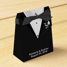 Black Tie Groom Wedding Favor Gift Boxes Favor Boxes