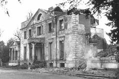 Garbrand Hall ruins. Built about 1770 for Phillip Rowden, a London wine merchant.  It was purchases years later in 1926 and the name changed to Bourne Hall where it became a girls school of Professional gentlemen, but closed in 1953. It was hoped to be brought up to date with new building codes but was demolished in 1962.
