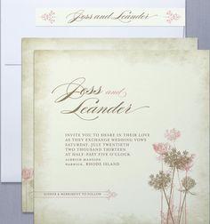 timeless  and romantic wedding invitation #CupcakeDreamWedding