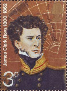 British Polar Explorers 3p Stamp (1972) Sir James Clark Ross