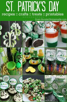 Lots of ideas for St. Patrick's Day including Recipes, Treats, Crafts, Decorating, Printables and more