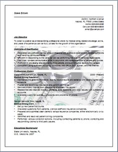 medical billing resume sample job resume layout free sample medical billing and coding resume sample