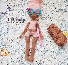 Crochet dolls, pattern and love ♥ by Katushka Morozova by KatushkaMorozova Amigurumi Toys, Amigurumi Patterns, Doll Patterns, Crochet Doll Pattern, Crochet Dolls, Knit Crochet, Diy Toys, Handmade Gifts, Handmade Dolls