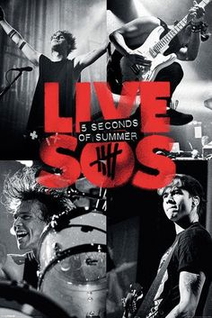 5 Seconds of Summer - Live - Official Poster. Official Merchandise. Size: 61cm x 91.5cm. FREE SHIPPING
