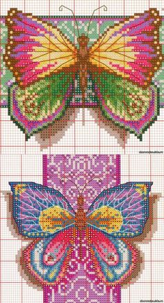 Beaded Embroidery, Cross Stitch Embroidery, Cross Stitch Patterns, Seed Bead Patterns, Loom Patterns, Butterfly Cross Stitch, Cross Stitch Boards, Cross Stitch Animals, Plastic Canvas Patterns