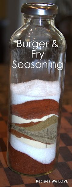 Recipes We Love: Burger and Fry Seasoning  [ A++  I made this and L-O-V-E it!  We put it on turkey burgers and woke them up! RP}