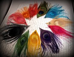 You pick what color you want peacock feather hair clip