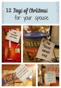 Spice up your marriage and surprise your spouse with twelve gifts just for him!