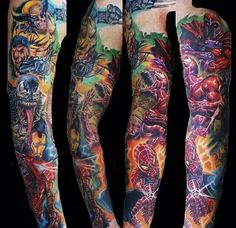 Superb Superhero sleeve by Dereck Turcotte