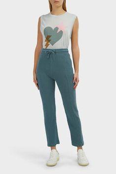 Wildfox Kara Cropped Joggers In Teal Joggers, Sweatpants, Teal, Blue, Wildfox, Kara, Trousers, Pajama Pants, Pajamas