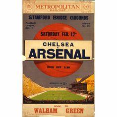 Chelsea v Arsenal - unknown artist (1913)