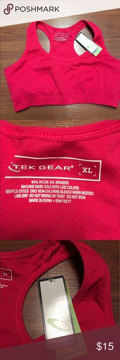 Tek Gear Performance Pink/Red Sports Bra, size XL New! Tek Gear Performance Sports Bra, size XL tek gear Intimates & Sleepwear Bras